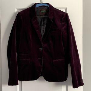 JCrew Aubergine velvet blazer